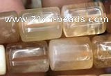 CTB606 15.5 inches 10*12mm - 10*13mm tube yellow opal gemstone beads