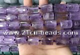 CTB617 15.5 inches 11*16mm - 12*18mm faceted tube ametrine beads