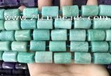CTB623 15.5 inches 11*16mm - 12*18mm faceted tube amazonite beads