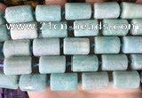 CTB655 15.5 inches 12*16mm faceted tube amazonite beads