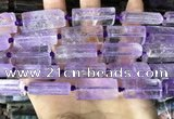 CTB670 14*27mm - 15*28mm faceted flat tube light amethyst beads