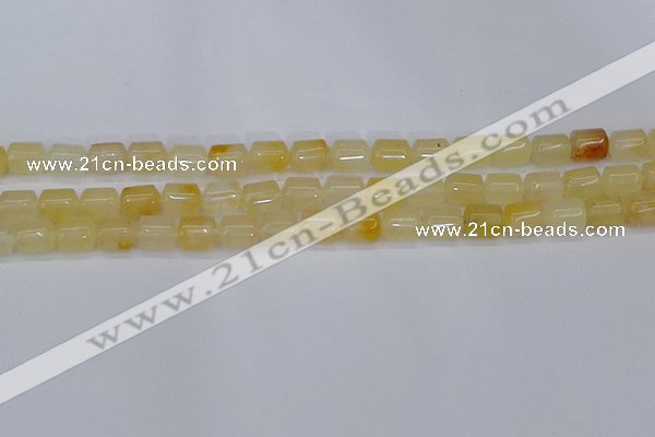CTB701 15.5 inches 6*8mm tube yellow jade beads wholesale