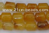 CTB702 15.5 inches 6*8mm tube yellow jade beads wholesale