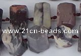 CTB760 6*10mm - 8*12mm faceted tube purple striped jasper beads