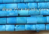 CTB806 15.5 inches 2*4mm tube turquoise beads wholesale