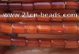 CTB820 15.5 inches 2*4mm tube red agate beads wholesale