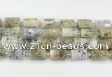 CTB870 13*25mm - 14*19mm faceted tube gemstone beads