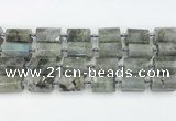 CTB878 13*25mm - 14*19mm faceted tube labradorite beads