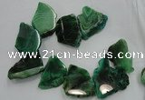 CTD1503 Top drilled 20*40mm - 25*50mm freeform agate slab beads
