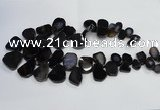CTD1550 Top drilled 10*15mm - 25*30mm freeform agate beads