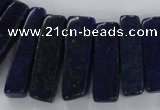 CTD1586 Top drilled 8*20mm - 10*45mm sticks lapis lazuli beads