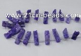 CTD1650 Top drilled 10*20mm - 15*40mm freeform druzy agate beads