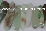 CTD1657 Top drilled 6*20mm - 8*50mm sticks Australia chrysoprase beads