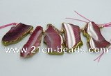 CTD1734 Top drilled 25*35mm - 30*45mm freeform agate slab beads