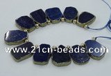 CTD1771 Top drilled 18*28mm - 22*35mm freeform lapis lazuli slab beads