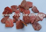CTD1775 Top drilled 25*30mm - 40*50mm freeform sediment jasper beads