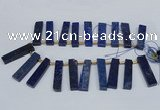 CTD1961 Top drilled 10*50mm - 12*55mm sticks lapis lazuli beads