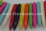 CTD2030 Top drilled 5*40mm - 5*45mm sticks turquoise beads