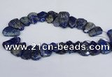 CTD2101 Top drilled 20*28mm - 25*35mm freeform lapis lazuli beads