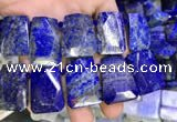 CTD2106 Top drilled 20*28mm - 22*32mm faceted freeform lapis lazuli beads