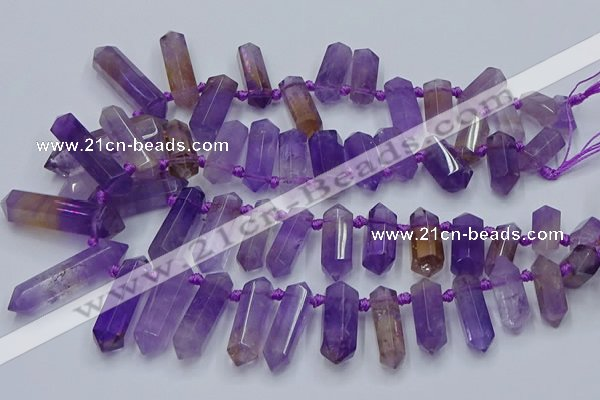 CTD2110 Top drilled 10*25mm - 12*45mm sticks ametrine beads