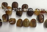 CTD2131 Top drilled 15*25mm - 18*25mm freeform agate beads
