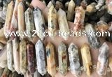 CTD2244 10*22mm - 12*45mm faceted nuggets crazy lace agate beads