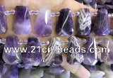 CTD2339 Top drilled 16*18mm - 20*30mm freeform dogtooth amethyst beads