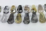 CTD2367 Top drilled 16*18mm - 20*30mm freeform montana agate beads