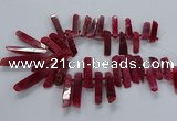 CTD2535 Top drilled 8*30mm - 11*50mm sticks agate gemstone beads