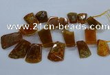 CTD2556 Top drilled 20*35mm - 30*45mm freeform agate gemstone beads