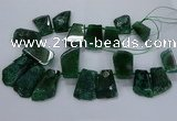 CTD2560 Top drilled 20*35mm - 30*45mm freeform agate gemstone beads