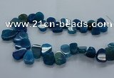 CTD2604 Top drilled 13*18mm - 23*33mm freeform agate beads