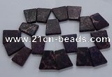 CTD2652 Top drilled 25*35mm - 30*40mm trapezoid sea sediment jasper beads
