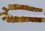 CTD2665 Top drilled 14*27mm - 16*42mm rectangle agate jasper beads