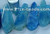 CTD2703 15.5 inches 10*25mm - 18*50mm freeform agate beads