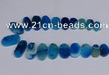 CTD2747 Top drilled 18*25mm - 22*40mm freeform agate beads