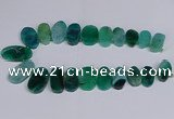 CTD2748 Top drilled 18*25mm - 22*40mm freeform agate beads