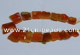 CTD2756 Top drilled 25*30mm - 35*45mm freeform agate beads