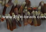 CTD2767 Top drilled 4*20mm - 6*22mm sticks sea urchin shell beads