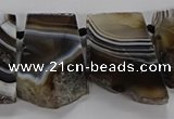 CTD2770 Top drilled 25*30mm - 35*40mm freeform line agate beads