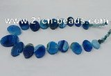 CTD2784 Top drilled 15*25mm - 25*40mm oval agate gemstone beads