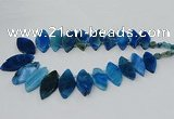CTD2792 Top drilled 15*30mm - 25*45mm marquise agate gemstone beads
