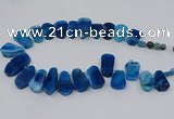 CTD2807 Top drilled 15*30mm - 20*40mm freeform agate gemstone beads