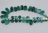 CTD2823 Top drilled 15*30mm - 18*45mm sticks agate gemstone beads