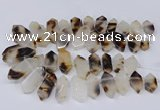 CTD2870 Top drilled 12*25mm - 18*45mm sticks Montana agate beads
