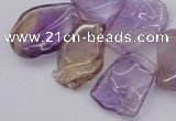 CTD303 Top drilled 15*20mm - 20*25mm freeform ametrine gemstone beads