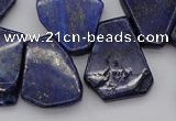 CTD308 Top drilled 15*20mm - 20*25mm freeform lapis lazuli beads
