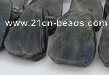 CTD334 Top drilled 15*20mm - 25*30mm freeform labradorite beads