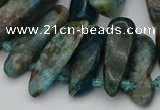 CTD3543 Top drilled 10*20mm - 15*40mm freeform apatite beads